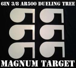 6IN. 3 8IN. Thk. AR500 Steel Targets For Diy Dueling Trees - Six Metal Paddles