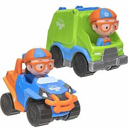 Blippi MINI Vehicle 2 Pack Mobile And Garbage Truck
