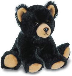 USA Bearington Lil' Huck Small Plush Stuffed Animal Black Bear 7 Inches
