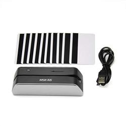 Deftun MSRX6 Smallest USB Magnetic Credit Card Reader Writer 1 4 Size Of MSR206