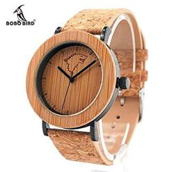 Pocket Cork Wallet Gift With This Bamboo And Cork Watch Rfid