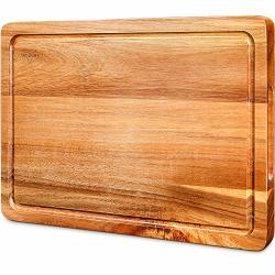 Cutting Board Wood Chopping Boards For Kitchen With Deep Juice Groove Organic Acacia Butcher Block For Meat And Vegetable Wooden