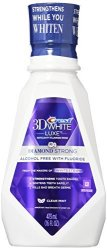 Crest 3D White Luxe Diamond Strong Anticavity Fluoride Mouth Rinse Clean Mint 16 Oz