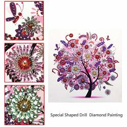 5D Diamond Painting Adult Or Child Diamond Collection Diy Diamond Painting Set Special Shape Diamond Painting Four Seasons Tree Autumn Pattern Hibah