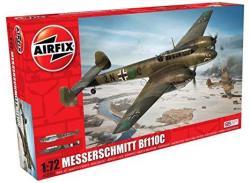 Airfix Messerschmitt BF110C 1 72 Scale Plastic Model Airplane A03080A