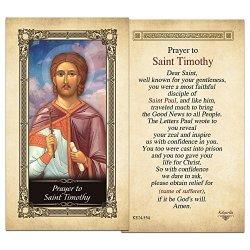 ShopCatholic Saint Timothy Laminated Holy Card - Pack Of 10