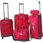 ECO Barcelona 5 Piece Luggage Set - Red