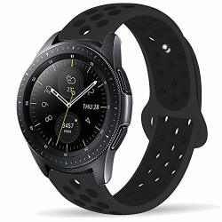 Compatible With Samsung Galaxy Watch Active 40MM GALAXY Watch 42MM Bands Sets 20MM Breathablesilicone Strap Sports Replacement Wristband For Galaxy Watch Active 40MM Black Medium