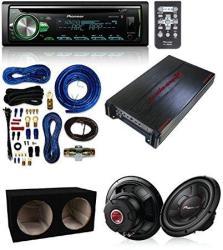 Cerwin-vega Ab Amplifier 2 Channels 1100W Max + 2 Pioneer 1300 Watts 12