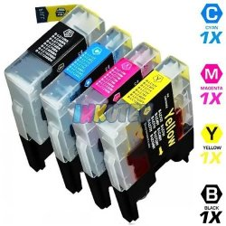 INKUTEN Compatible Brother LC71 Series Combo Pack Of 4 High Yield Inkjet Cartridges 1 Black 1 Cyan 1 Magenta 1 Yellow Brother
