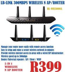 LB-LINK 300 Mbps Wireless N Ap Router | R399 00 | Digital Cameras |  PriceCheck SA