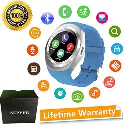 89769974a4d Sepver Mall Sepver Smart Watch Round Bluetooth Smartwatch With Sim Card  Slot Compatible With Samsung LG Sony Htc Huawei Google X