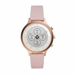 Women's Fossil Charter Hr Heart Rate Stainless Steel And Silicone Hybrid Smartwatch Color: Rose Gold Blush FTW7013