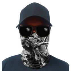 FSSA Multi-use Tubular Bandana gator Face Shield - Blackout Bush Camo