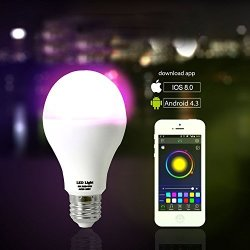 Wireless LED Smart Lightbulb Ios And Android Controllable