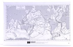 """American Educational Sea Floor Physiography Note Pad With 100 Sheets 17"""" Length X 11"""" Height"""