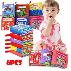 Hmlai Clearance 6PCS Baby Cloth Books My First Non-toxic Soft Clothing Book Early Educational Toys Multicolour