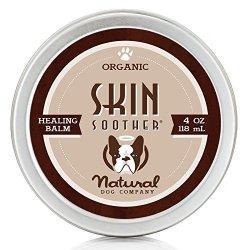 Natural Dog Company - Skin Soother Organic All-natural Healing Balm - Treats Hot Spots Bacterial Folliculitis Dermatitis Alopeci