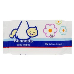 Bennetts Baby Wipes 80'S