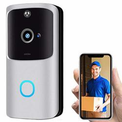 Smart Camera Doorbell Wireless Video Doorbell For Home Security Automatic Motion Detection And App Remote Control For Ios & Android 4 Months Of Super