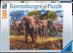 Elephants 500 Piece Puzzle