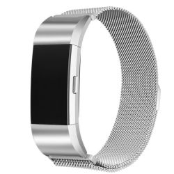 Sparq Fitbit Charge 2 Strap Silver Milanese