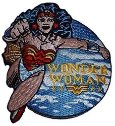 DC Comics Wonder Woman Flying Embroidered Figure Patch