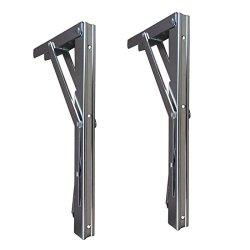 Baisen Folding Shelf Bracket - Bench Table Folding Shelf Or Bracket Max. Load 330LBS Long Release Handle Sold In Pairs