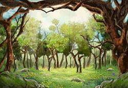 Leyiyi 10X8FT Photography Backdrop Wedding Arch Door Background Wonderland Flora Greenery Meadow Sky Cloud Heaven Enchanted Fore
