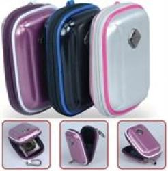 Promate Amba Aluminum Finish Hard Shell Camera Case with Memory Foam Protector Inner Bubble Pad Protector in Black
