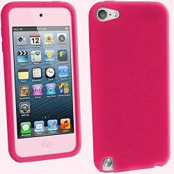 Igadgitz U2034 Silicone Skin & Screen Protector Suitable For Apple Ipod Touch 5TH 6TH 7TH Gen -pink