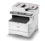 Oki MC363 Mfp Printer - Copy Print Scan Fax Document Feeder Letter 42PPM 512MB Ethernet 10 100 1000 Base T tx Hi-speed USB 2.0 2