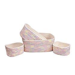Orino Cotton Rope Storage Baskets Nursery Bins Set Of 4