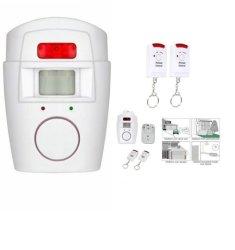 Wireless Motion Sensor Alarm Ir Infrared Detector 2 Remote Control