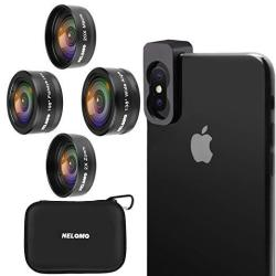Nelomo Cellphone Camera Lens 4 In 1 Phone Lenses Kit Compatible With Iphone XS Xr X 8 Samsung Galaxy S9 S8 Huawei Mate P20