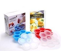 Instant Pot Accessories Egg Bites Molds X 2-5QT 6QT 8 Qt Free Cookbook Book Download - Fits For Sous Vide Egg Bites