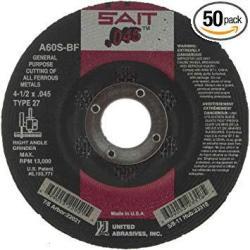 EWarehouse United Abrasives-sait 22021 Type 42 27 4-1 2-INCH X .045 Inch X 7 8-INCH Grade A60S General Purpose Depress Center Cu