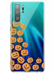 Fvntuey Case For Huawei Mate 20 Pro Clear Soft Cover Pattern Halloween Pumpkin Heartbeat Full Body Protective Shell Ultra-thin Silicone 360 Bumper Accessories Compatible