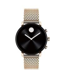 Movado Connect 2.0 Unisex Powered With Wear Os By Google Stainless Steel And Ionic Plated Carnation Gold Steel Smartwatch Color: Carnation Model: 36