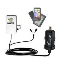 Gomadic Double Port Micro Car Auto Dc Charger Suitable For The Panasonic HDC-SD40 Camcorder - Charges Up To 2 Devices Simultaneously With Tipexchange Technology