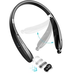 Deals On Levin Foldable Bluetooth Headset Bluetooth 4 1 Wireless Headphone Neckband With Retractable Earbuds For Iphone Samsung Galaxy Series Android And Other Bluetooth Enabled Devices Compare Prices Shop Online Pricecheck