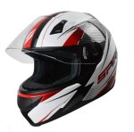 Spirit Tyro Wide Angle View Motorcycle Helmet With Cover - Red