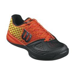 Wilson Men's Rush Pro Glide Black red Tennis Shoes