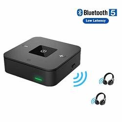 Bluetooth 5.0 Transmitter Receiver For Tv Home Stereo Wireless Audio Adapter For PC Radio Projector DVD PS4 W digtal Optical 3.5