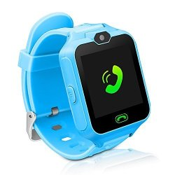 MIMLI Kids Smart Watch Phone Unlocked Waterproof Smart Phone Watch For Girls Boys With Camera Games Touchscreen Children Sos Cell Phone Watch With Sim And