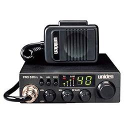 Uniden PRO520XL Pro Series 40-CHANNEL Cb Radio. Compact Design. Anl Switch And Pa cb Switch. 7 Watts Of Audio Output And Instant