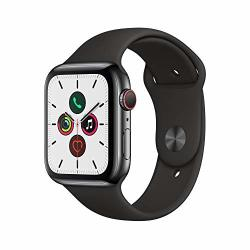 Apple Watch Series 5 44mm in Space Black & Black Sport Band