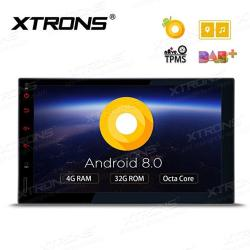 XTRONS 7 Inch Android 8.0 Octa Core 4G RAM 32G Rom HD Digital Multi-touch Screen Car Stereo Gps Radio OBD2 Tpms Double 2 Din