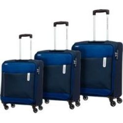 American Tourister Rolland 3 Piece Set Small Medium & Largeblue