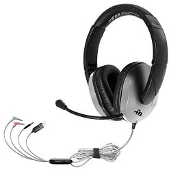 HamiltonBuhl Triosplus Multimedia Headset With Steel Reinforced Gooseneck MIC - Connect To Any Device